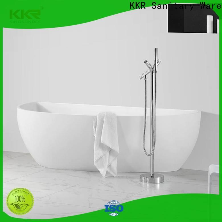 KingKonree white acrylic freestanding tub at discount for shower room