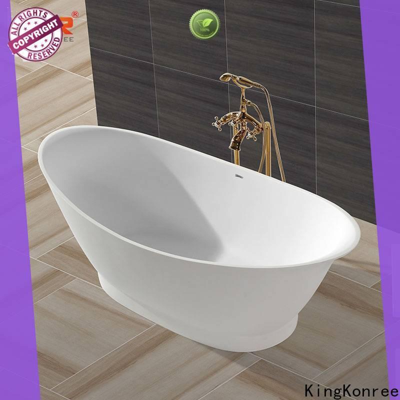 KingKonree resin stone bathtub custom for shower room