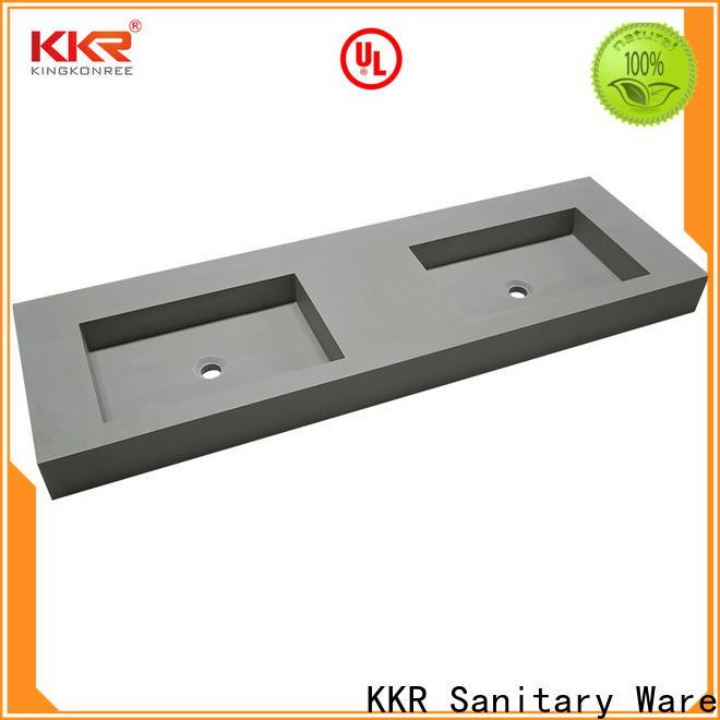 KingKonree concrete wall mounted wash basins customized for home