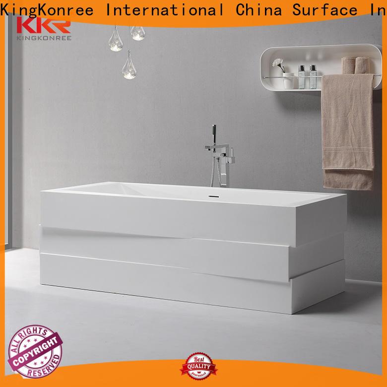 KingKonree black contemporary freestanding bath OEM