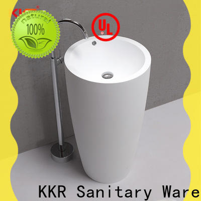 KingKonree freestanding pedestal sink design for bathroom