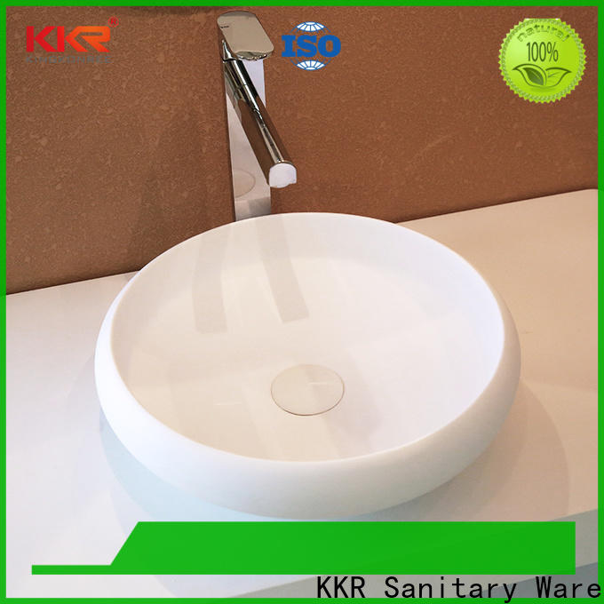 KingKonree white top mount bathroom sink design for restaurant