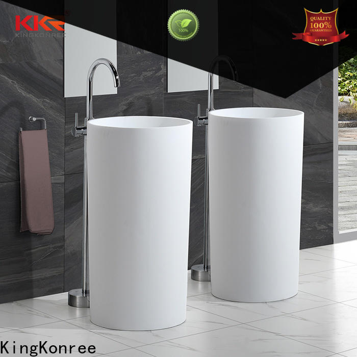 KingKonree resin bathroom sink stand supplier for home