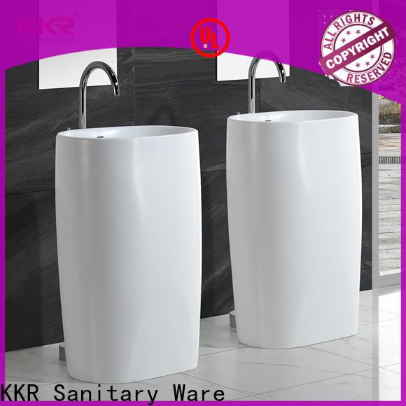 KingKonree rectangle free standing wash basin design for hotel