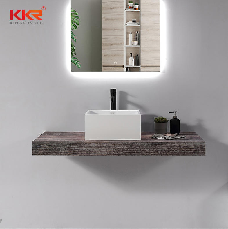 Artificial Stone Polymer Resin Washbasin Solid Surface Hand Wash Basin KKR-1111