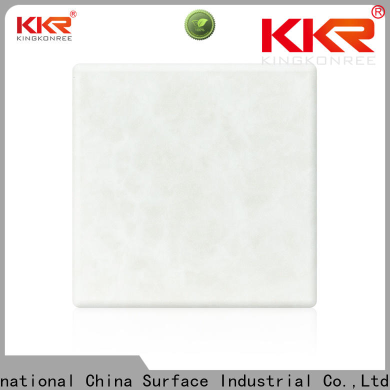 KingKonree durable white solid surface countertops under-mount for home