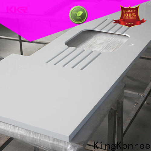 approved solid surface kitchen worktops factory price for hotel