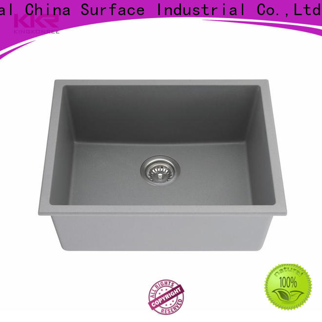 KingKonree excellent black undermount sink customized for villa