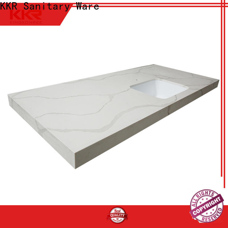 L shape solid surface kitchen worktops factory price for home