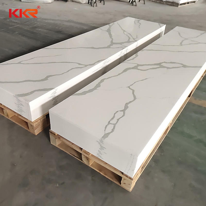 Newly Carrara Marble Stone Artificial Solid Surface Sheet KKR-M069