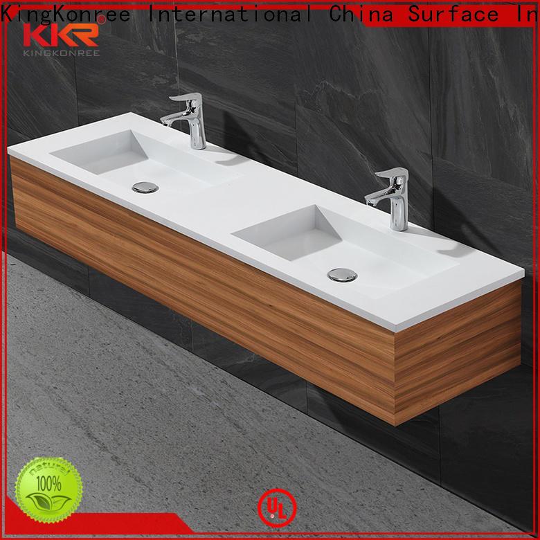 KingKonree dark wash basin with cabinet online manufacturer for bathroom