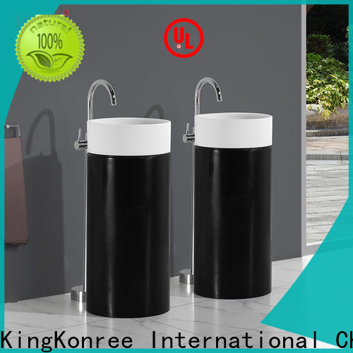 pan shape stand alone bathroom sink manufacturer for home