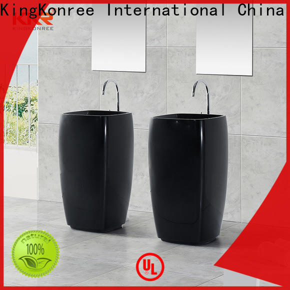 KingKonree pan shape basin stands for bathrooms design for hotel