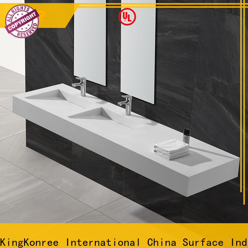 marble wall hung bathroom basins sink for home