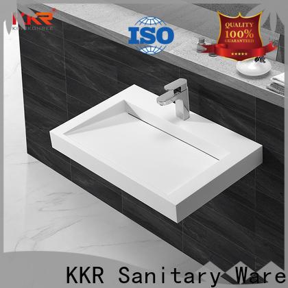 KingKonree concrete stainless steel wash basin manufacturer for hotel