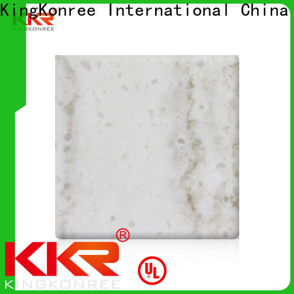 KingKonree modified solid surface sheets for sale from China for hotel