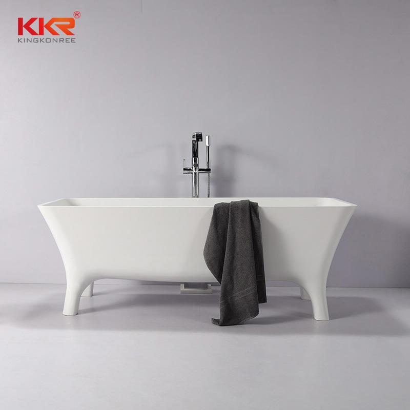 Newly Launch Acrylic Solid Surface Bath Tub With Four Legs KKR-B103