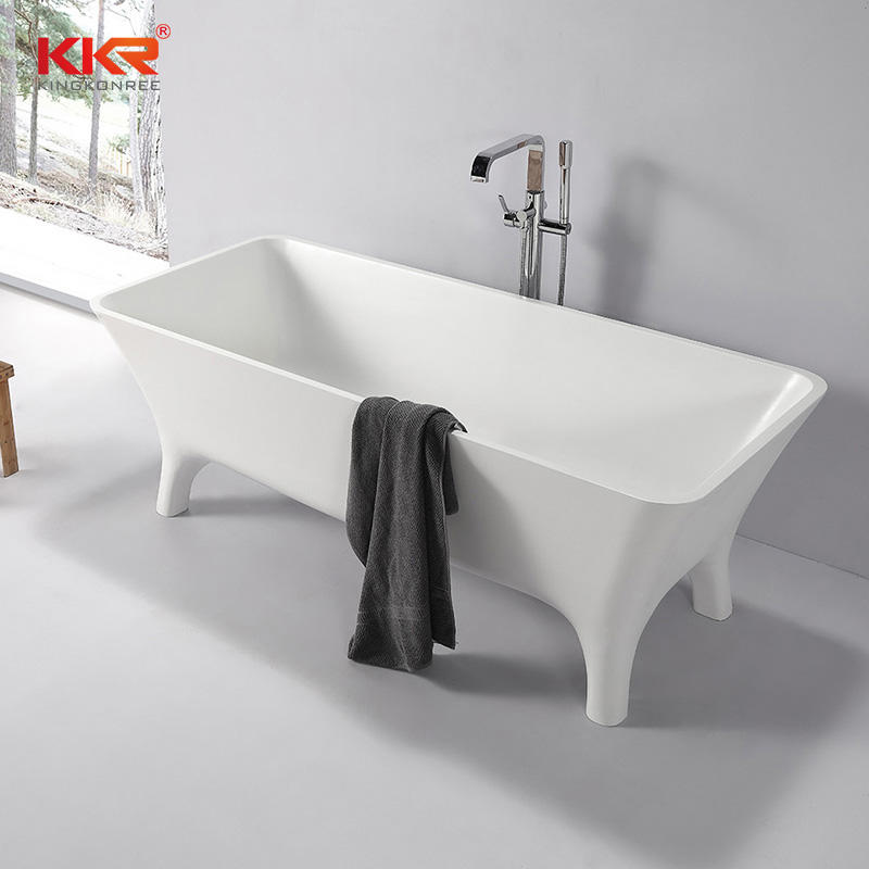 Newly Launch Acrylic Solid Surface Bath Tub With Four Legs KKR-B103