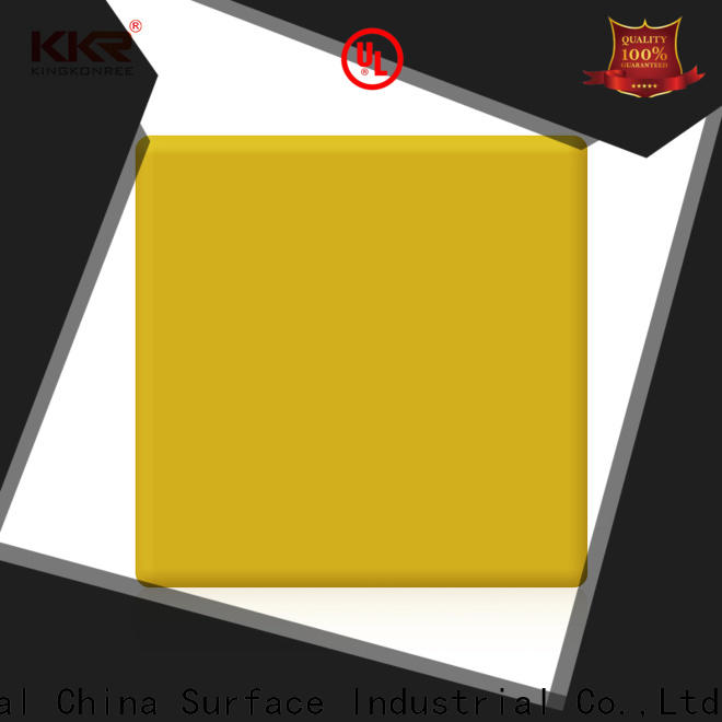 artificial solid surface sheets supplier for restaurant