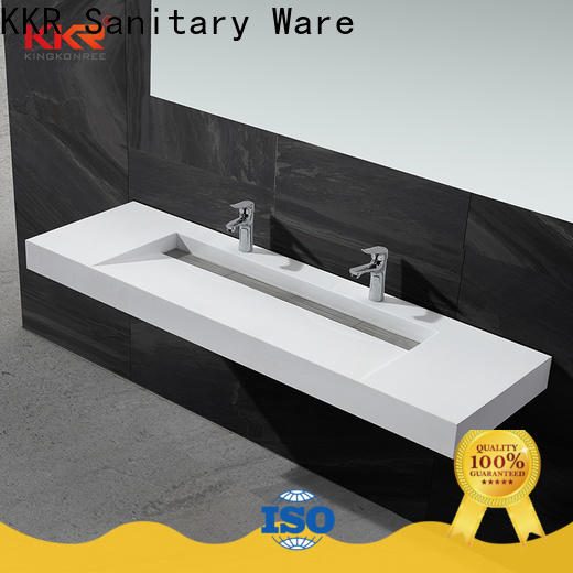 artificial wall hung cloakroom basin customized for toilet