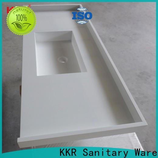 KingKonree quartz stone custom vanity tops sink for motel