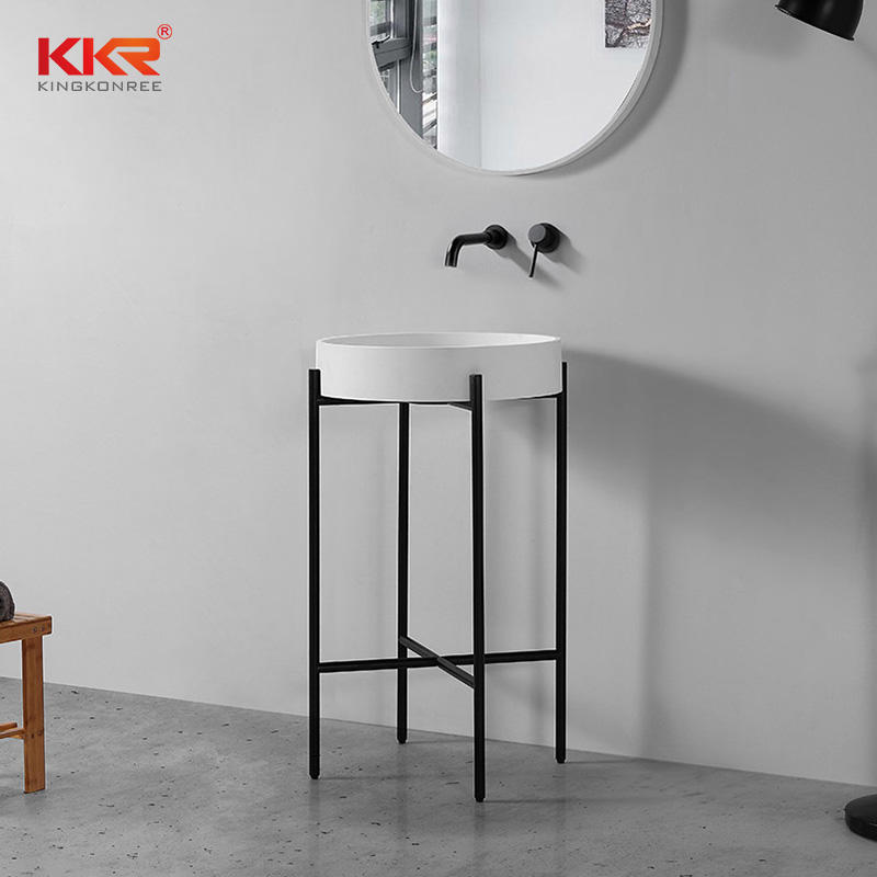 Hot Selling Concise Style Acrylic Solid Surface Stone Wash Basin KKR-1157