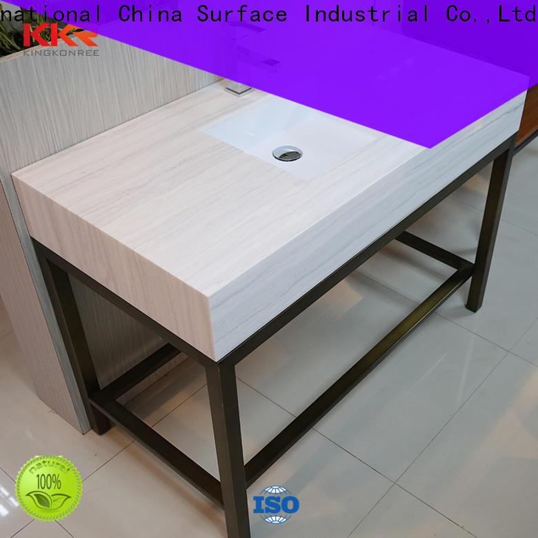 KingKonree white solid stone countertops manufacturer for hotel