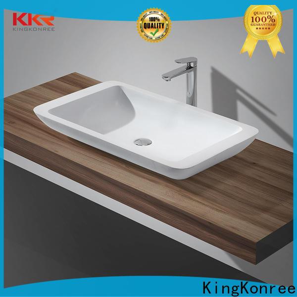 KingKonree kkr1310 above counter vessel sink supplier for hotel