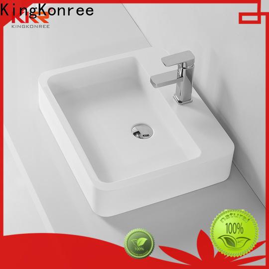 KingKonree top mount bathroom sink customized for hotel
