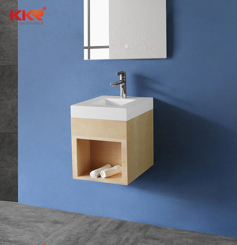 Hot Sales Customized Bathroom Vanity Basin With Wall Hung Cabinet - Cabinet Basin KKR-XM371