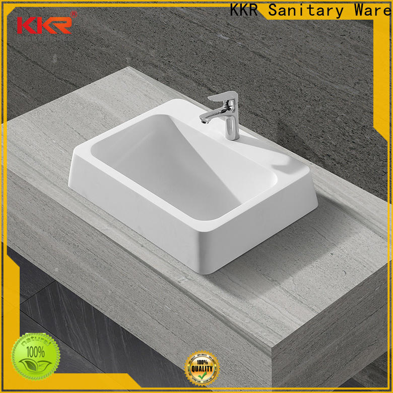 reliable above counter sink bowl at discount for restaurant