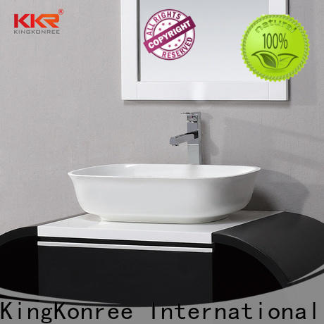 KingKonree elegant above counter vanity basin supplier for home