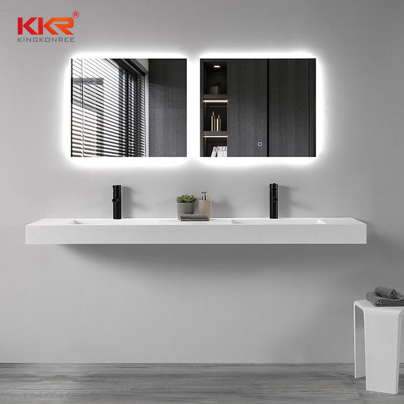 Acrylic Solid Surface Bathroom Vanity Set With Mirror KKR-1605