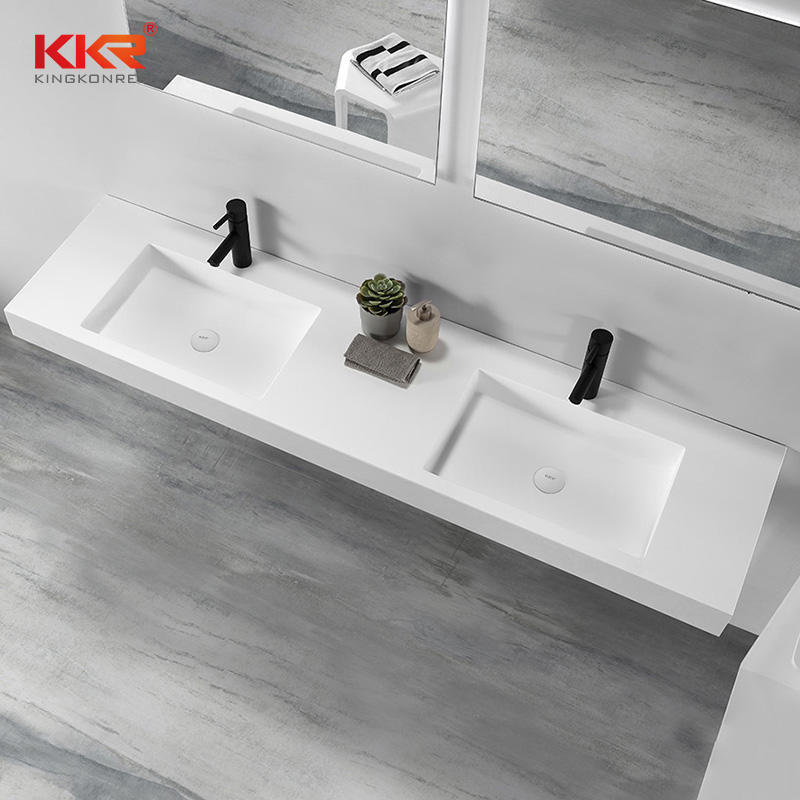 Acrylic Solid Surface Bathroom Vanity Set With Mirror KKR-1605