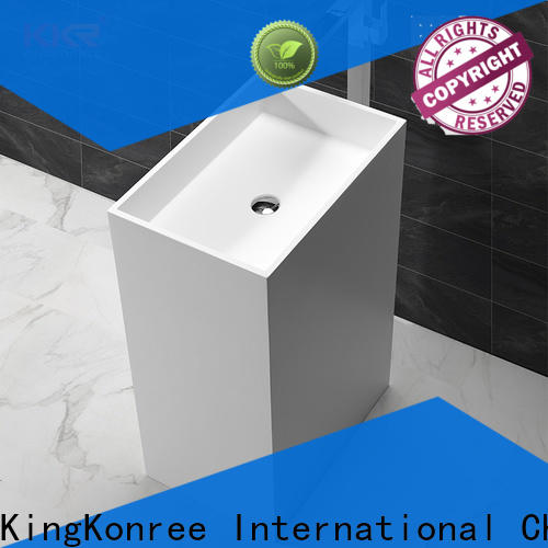 KingKonree resin basin stands for bathrooms manufacturer for motel