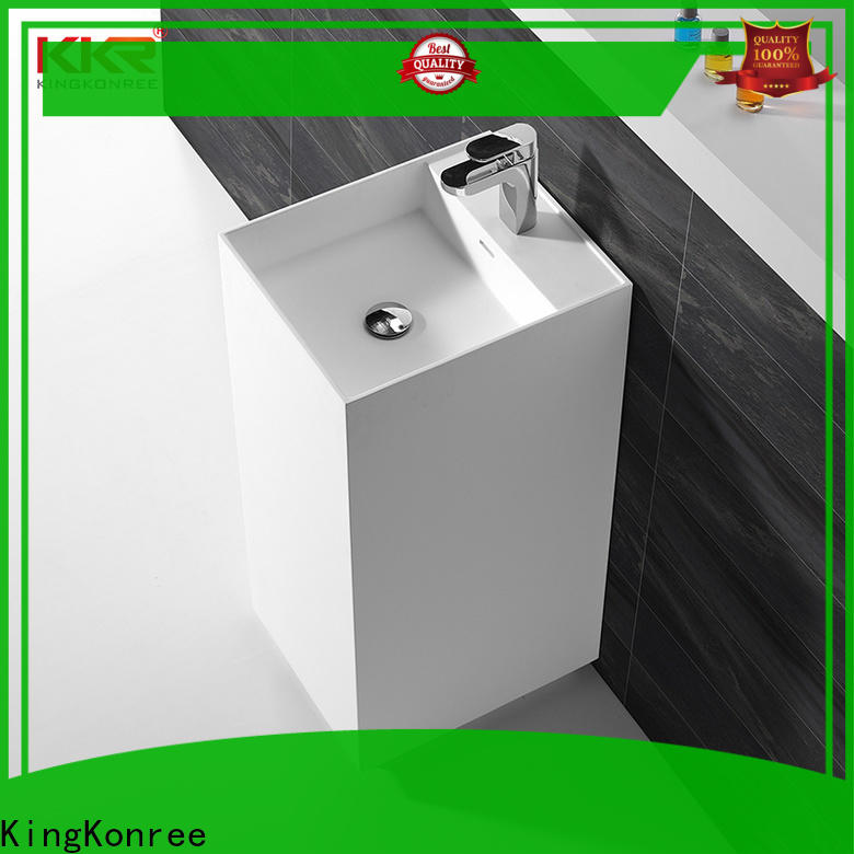 KingKonree rectangle basin stands for bathrooms factory price for hotel