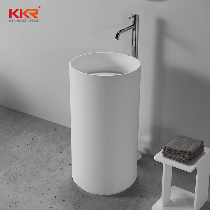 Round Stone Solid Surface Freestanding Basin for 5 Star Hotel KKR-1598