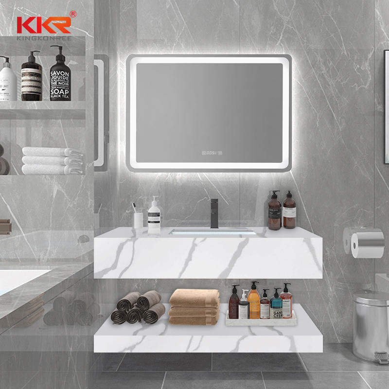 Newly Texture Pattern Solid Surface Wall Hung Vanity Basin KKR-M069