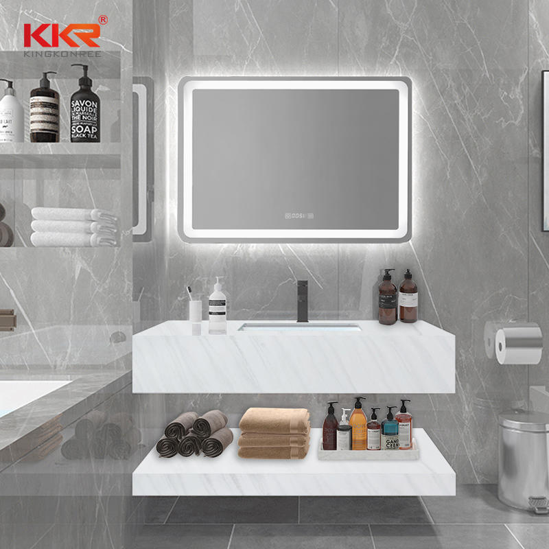Solid Surface Marble Stone Bathroom Wall Mount Wash Basin KKR-M8810