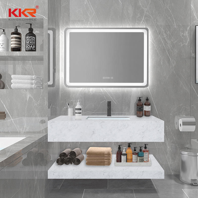 Hot Selling Artificial Marble Stone Solid Surface Wash Basin Vanity KKR-M8808