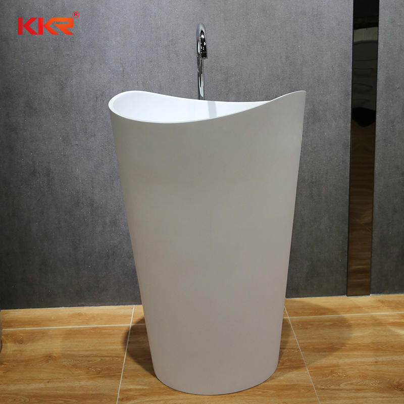 New Arrival Artifiicial Marble Solid Surface Stone Freestanding Basin KKR-1900