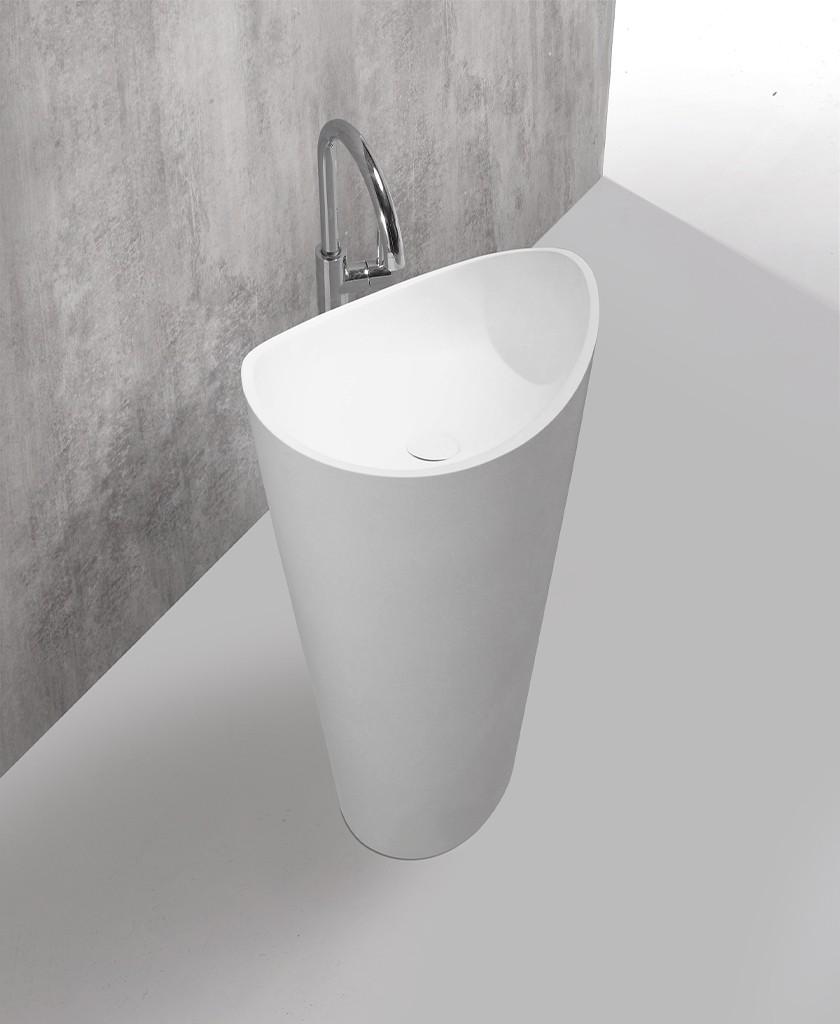 shelf free standing wash basin design for motel-1