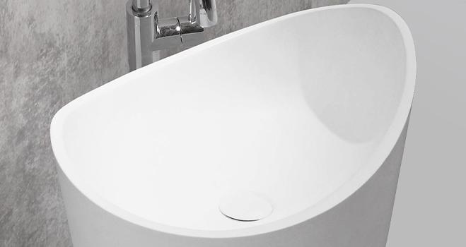 shelf free standing wash basin design for motel-2