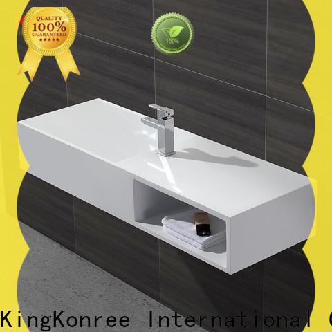 KingKonree solid surface basin on-sale for bathroom