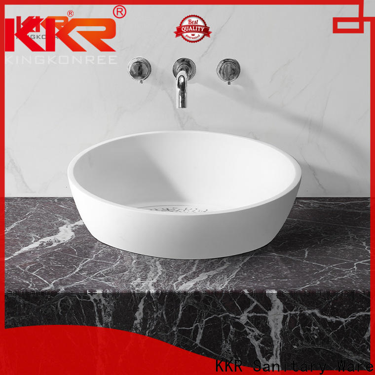 KingKonree solid surface sink top-brand for bathroom