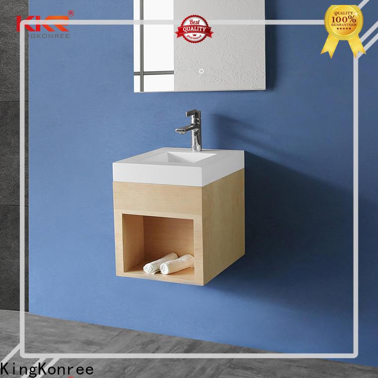 KingKonree basin mirror with storage customized for motel