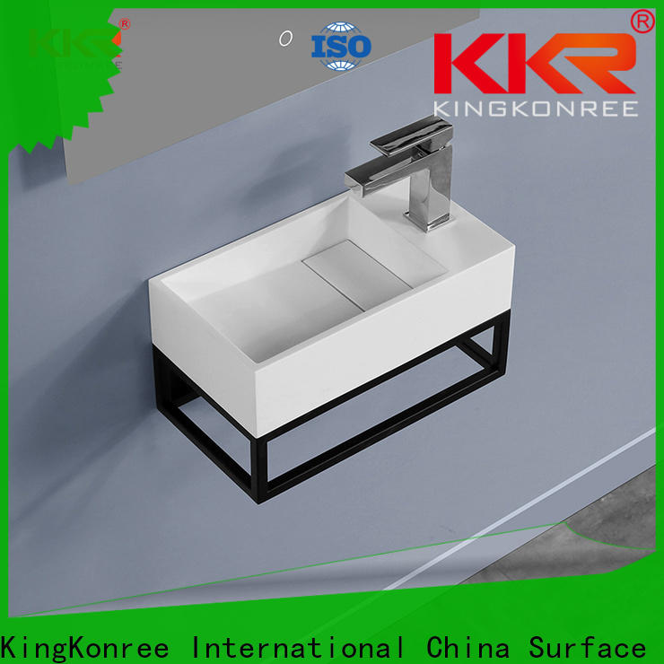 resin basin cabinet with mirror supplier for motel