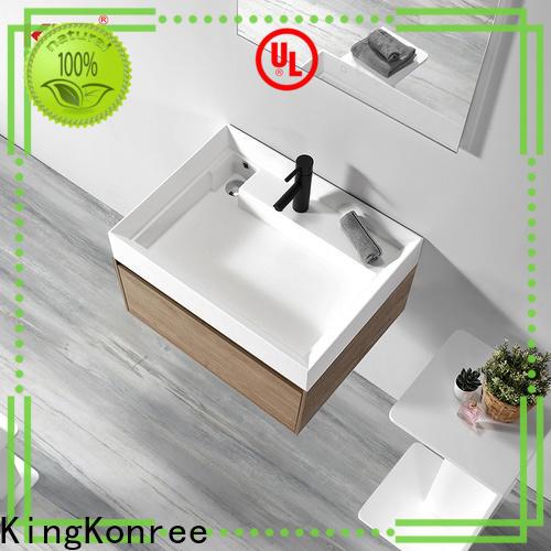 royal table top basin cabinet design for bathroom
