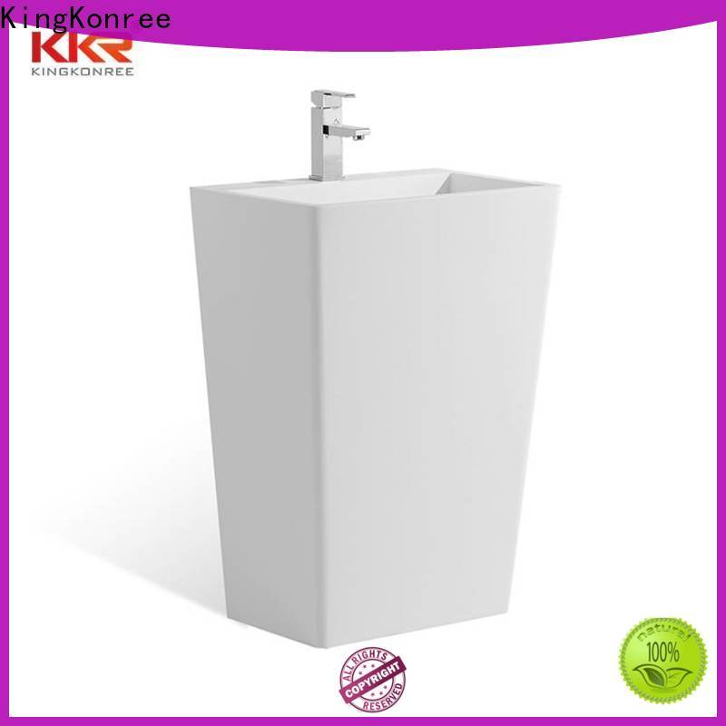 KingKonree professional pedestal wash basin design for motel