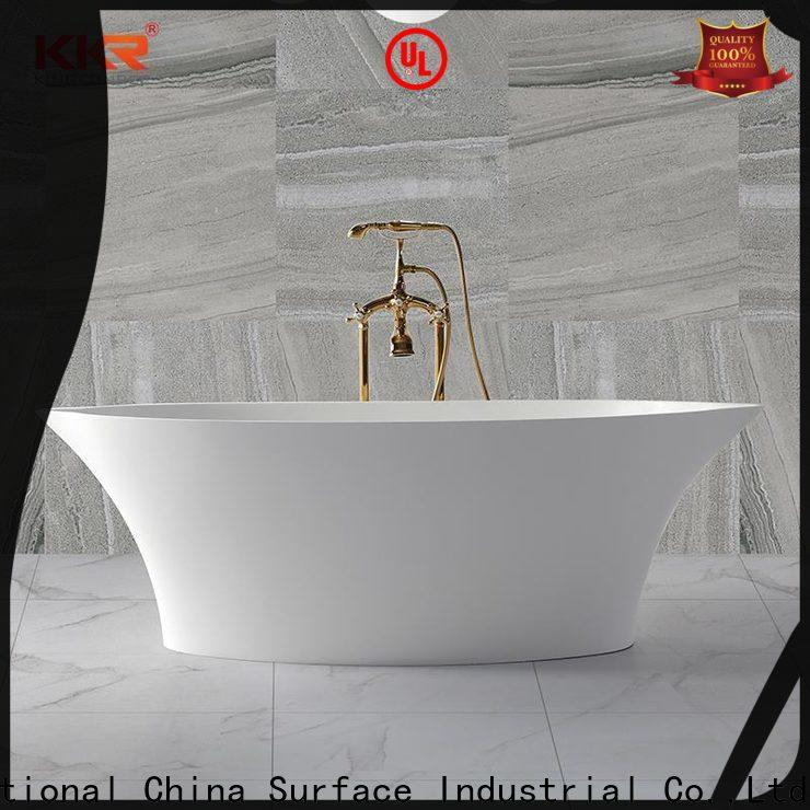 KingKonree matt stone resin bathtub supplier for hotel
